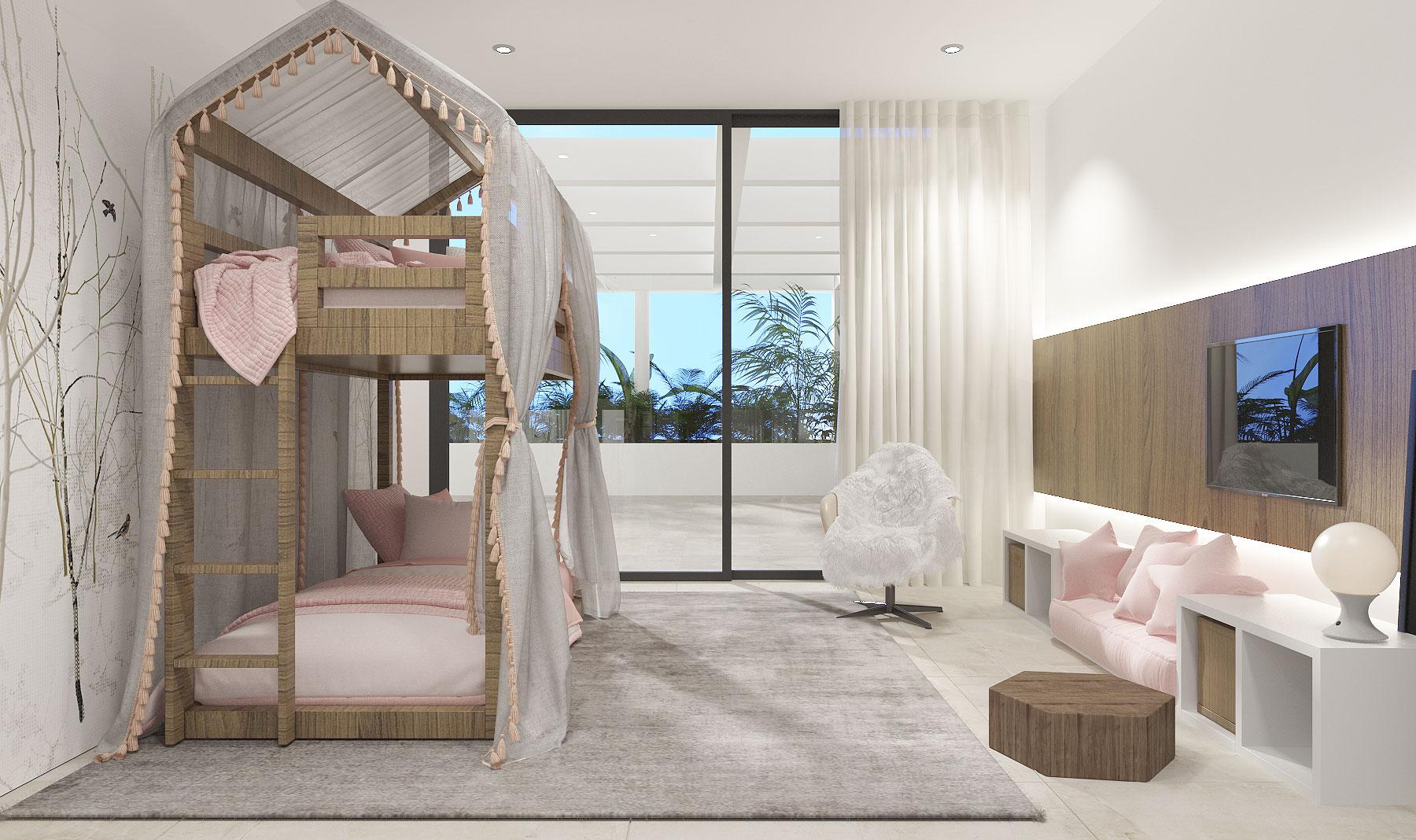 Child's Bedroom Loft Bed